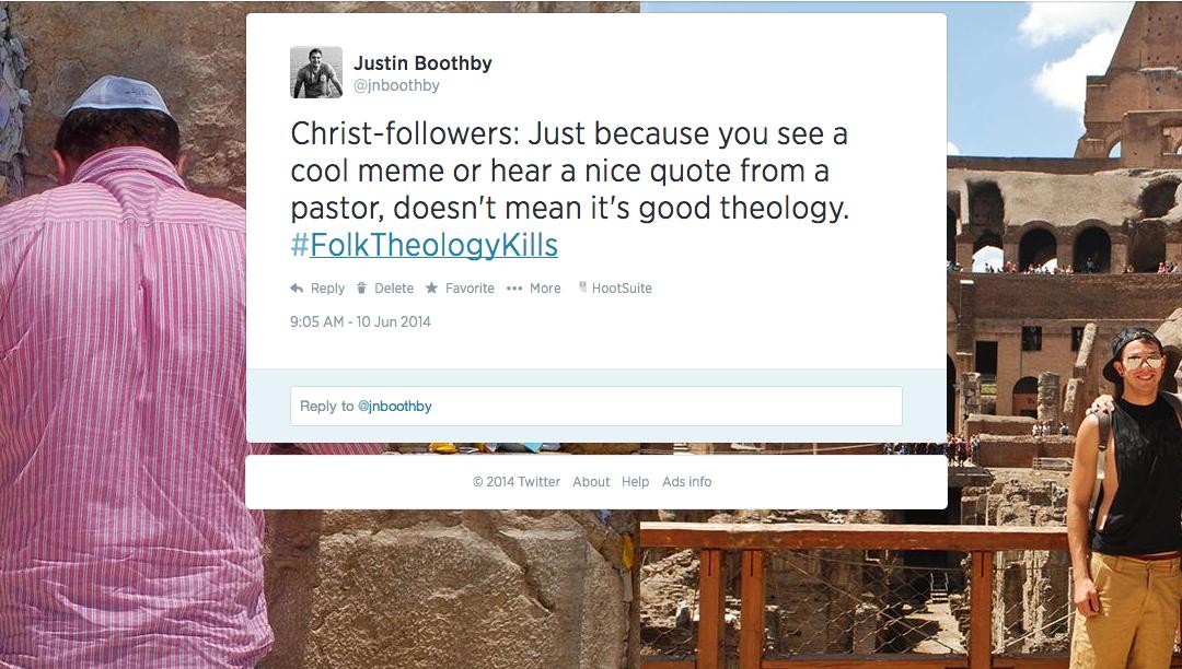 Folk Theology : Part 1 – What Is Folk Theology?